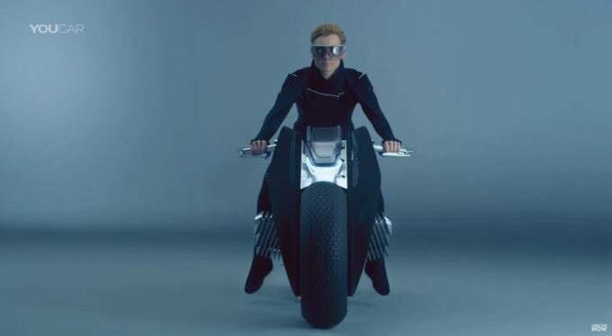BMW : concept de moto sanscasque